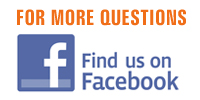 For more questions... Find us on Facebook